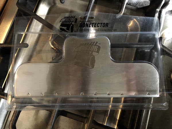 Single Bonetector in packaging on stove